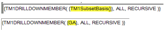 TM1 Dynamic Subset with dimensional data