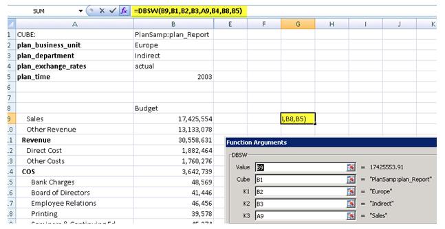 TM1 Excel Input Templates