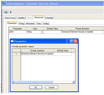 TM1 Element Security